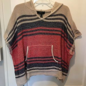 Forever 21 poncho style hoodie with pocket